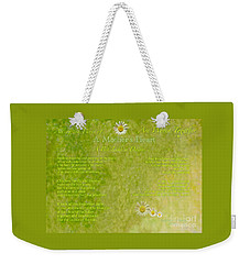 A Mother's Love Part II The Text Weekender Tote Bag by Kimberlee Baxter