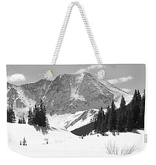 Weekender Tote Bag featuring the photograph A Mountain Is A Buddha by Eric Glaser