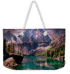 A Mountain Lake And Scenery Weekender Tote Bag