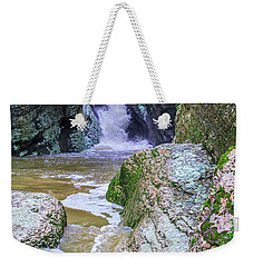 A Mountain Stream Rapidly Carries Clean Drinking Water Down In Valley Weekender Tote Bag