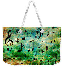 Weekender Tote Bag featuring the digital art A Musical Storm 2 by Andee Design
