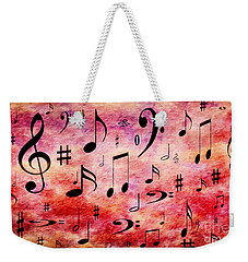 Weekender Tote Bag featuring the digital art A Musical Storm 4 by Andee Design