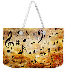 Weekender Tote Bag featuring the digital art A Musical Storm by Andee Design