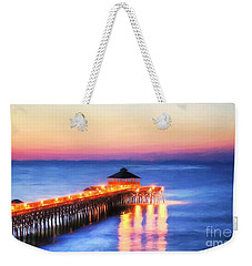 Weekender Tote Bag featuring the photograph A New Day At Folly Beach by Mel Steinhauer