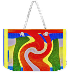 A New Twist Weekender Tote Bag by Shirley Moravec
