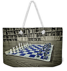 Weekender Tote Bag featuring the photograph A Nice Game Of Chess by Lewis Mann