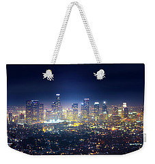 A Night In Los Angeles Weekender Tote Bag by Mark Andrew Thomas