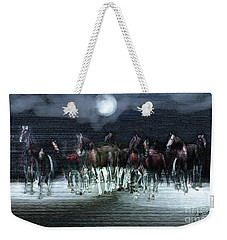 A Night Of Wild Horses Weekender Tote Bag