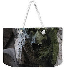 Weekender Tote Bag featuring the photograph A Notre Dame Griffon by Christopher Kirby