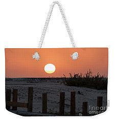 A November Sunset Scene Weekender Tote Bag