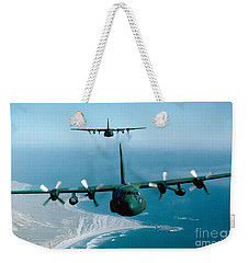 A Pair Of C-130 Hercules In Flight Weekender Tote Bag