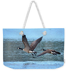 A Pair Of Canada Geese Weekender Tote Bag