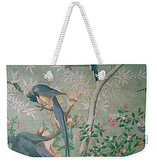 A Pair Of Magpie Jays  Vintage Wallpaper Weekender Tote Bag
