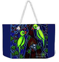 A Parrot Family In Wilderness Weekender Tote Bag