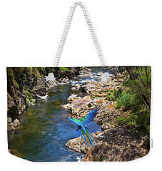 A Parrot In A New Zealand Gorge Weekender Tote Bag