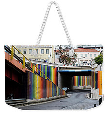 Weekender Tote Bag featuring the photograph A Throughway Of Many Colors by Lorraine Devon Wilke