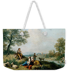 A Pastoral Scene With Goatherds Weekender Tote Bag by Francesco Zuccarelli