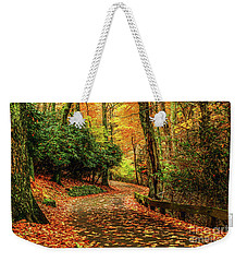A Path Through Autumn Weekender Tote Bag by Darren Fisher