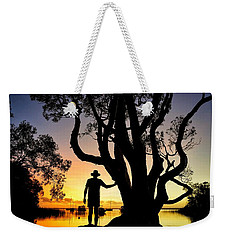 Weekender Tote Bag featuring the photograph A Peaceful Dawn Down By The Lake by Keiran Lusk
