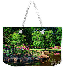 A Peaceful Feeling At The Azalea Pond Weekender Tote Bag by Tamyra Ayles