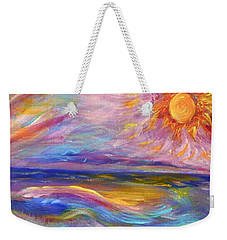 A Peaceful Mind - Abstract Painting Weekender Tote Bag by Robyn King