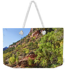 Weekender Tote Bag featuring the photograph A Peaceful Zion by John M Bailey