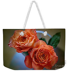 Weekender Tote Bag featuring the photograph A Peach Delight by Diana Mary Sharpton
