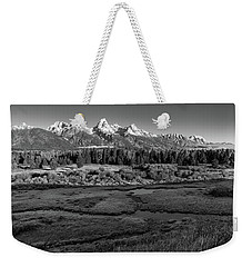 A Perfect Frosty Morning In Grey Scale Weekender Tote Bag
