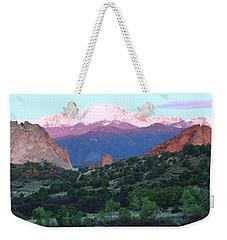 A Pikes Peak Sunrise Weekender Tote Bag by Eric Glaser