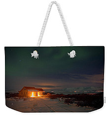 Weekender Tote Bag featuring the photograph A Place For The Night, South Of Iceland by Dubi Roman