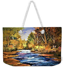 A Place Of Serenity And Autumn Splendor Weekender Tote Bag