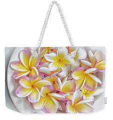 A Plate Of Plumerias Weekender Tote Bag