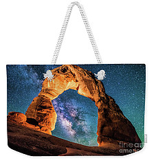 A Portal To The Milky Way At Delicate Arch Weekender Tote Bag
