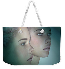 A Portrait Of Twins Weekender Tote Bag