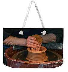 A Potter's Hands Weekender Tote Bag by Marie Neder