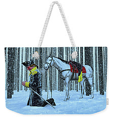 A Prayer In The Snow Weekender Tote Bag