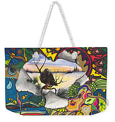 Weekender Tote Bag featuring the painting A Punch Through by Darren Cannell