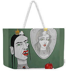 A Queen, Her Mirror And An Apple Weekender Tote Bag