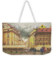 A Rainy Day In Prague Weekender Tote Bag