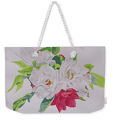 A Rose Bouquet Weekender Tote Bag by Hilda and Jose Garrancho