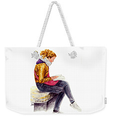 A Reading Girl In Milan Weekender Tote Bag