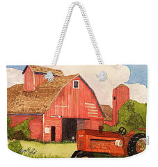 A Red Barn Weekender Tote Bag