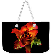 A Red Rose On Black Weekender Tote Bag