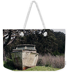 A Retired Old Fishing Boat On Dry Land In Bodega Bay Weekender Tote Bag
