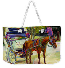 A Ride Through Central Park Weekender Tote Bag