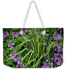 A Ring Of Purple Flowers Weekender Tote Bag
