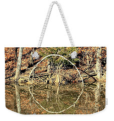A Ring On The Pond In Fall Weekender Tote Bag