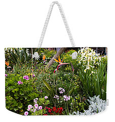Weekender Tote Bag featuring the photograph A Riot Of Flowers by Lorraine Devon Wilke