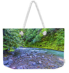 Weekender Tote Bag featuring the photograph A River by Jonny D