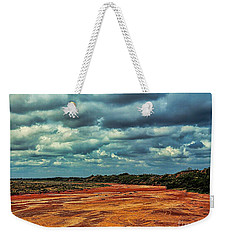 Weekender Tote Bag featuring the photograph A River Of Red Sand by Diana Mary Sharpton